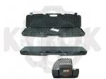 Кейс Megaline 125x25x11 пластиковый,черный,кодовый замок