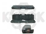 Кейс Megaline 110x25x11 пластиковый,черный,кодовый замок