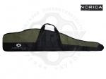 Чехол Norica черный/олива для винтовок с оптическим прицелом - Чехол Norica black/olive – фирменный чехол с оригинальным логотипом компании Norica для хранения и транспортировки пневматической винтовки с оптическим прицелом. Чехол из прочного нейлонового материала. В двух размерах - 112 и 132 см.