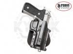 Кобура Fobus Beretta 92F Paddle Holster - Кобура Fobus Beretta 92F Paddle Holster - Разработаны в Израиле для военных и спецслужб всего мира, линейка пластиковых кобур, надежно крепящихся на пояс практически любой ширины. Плотность фиксации оружия может регулироваться специальным винтом.