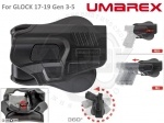 Кобура UMAREX для Glock17-19 - Кобура UMAREX для Glock17-19, 19Х · Быстросъемная кобура с защитой. · Подходит для моделей GLOCK 17-19 Gen 3-5, 19X. · Прочный пластик · Диапазон регулировки 360° · Пружинная кнопка разблокировки
