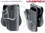 Кобура UMAREX для Walther CP99, P99, PPQ - Кобура UMAREX для Walther CP99/P99/PPQ  · Быстросъемная кобура с защитой. · Подходит для моделей для Walther CP99/P99/PPQ  · Прочный пластик · Диапазон регулировки 360° · Пружинная кнопка разблокировки