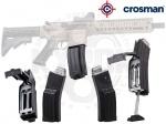 Магазин Crosman QR-Mag для DPMS SBR, Bushmaster MPW - Магазин Crosman QR-Mag (BB) - обойма быстрой перезагрузки с резервуаром BB. Вместимость: 25 патронов (в пружинном питателе), 300 патронов (в резервуаре). Встроенный спидлоадер для быстрой перезагрузки. Для винтовок  Bushmaster MPW, DPMS SBR