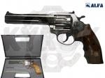 Alfa 461 никель, дерево револьвер под патрон Флобера