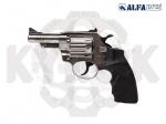Револьвер флобера Alfa 431 никель. пластик - Револьвер флобера Alfa 431 никель. пластик - новая модель от чешского производителя ALFA - PROJ с трехдюймовым стволом и пластиковой рукоятью. Начальная скорость полета пули: 170-180м/с.