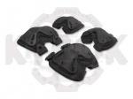 Наколенники и налокотники черные - Наколенники и налокотники предназначены для защиты коленного и локтевого сустава от повреждений и травм. Состоят из полимерной пластины изогнутой в двух плоскостях, закрепляемой на мягкой подложке.
