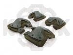 Наколенники и налокотники зеленые - Наколенники и налокотники предназначены для защиты коленного и локтевого сустава от повреждений и травм. Состоят из полимерной пластины изогнутой в двух плоскостях, закрепляемой на мягкой подложке.