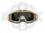 Тактические, баллистические очки-маска Desert Locust desert tan