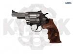 Револьвер флобера Alfa 431 никель. дерево - Револьвер флобера Alfa 431 никель. дерево - новая модель от чешского производителя ALFA - PROJ с трехдюймовым стволом и деревянной рукоятью. Начальная скорость полета пули: 170-180м/с.