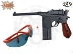 Акция! МАУЗЕР SAS M.712 Blowback + Очки STRELOK STR-48/4 - Акция к пистолету МАУЗЕР SAS M.712 Blowback - новинка 2014 года. Пистолет является копией легендарного пистолета Маузер образца 1896 - 1937 годов. С функцией Blowback. Очки защитные STRELOK STR-48/4.
