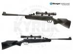 Пневматическая винтовка Stoeger X5 Synthetic Combo 4х32 - Винтовка пневматическая Stoeger X5 Synthetic с прицелом 4х32 - воздушка от итальянской компании Stoeger. Калибр: 4,5 мм. Начальная скорость пули: до 245 м/с. Общая длина: 1030 мм. Масса: 2,6 кг. Тип пуль: свинцовые пули калибра 4,5