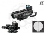 Оптический прицел NcStar Mil 2-7X32 Green Dot&Laser