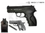 Пистолет Borner C11 - Пневматический пистолет Borner C11 - удобный, экономичный, лёгкий пистолет. Подвижный ствол обеспечивает экономию  расхода газа СО2 при стрельбе. Корпус изготовлен из высокопрочного пластика, ствол стальной гладкий, магазин и основные узлы металлические.