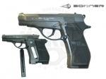 Пистолет Borner M84 - Пневматический пистолет Borner M84 - Внешне выглядит, как боевой оригинал. От всем известной Беретты 84 пистолет получил удобство, надежность и простоту использования. Пистолет не только внешне похож на оригинал, но и соответствует ему по весу.