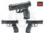 Пистолет Heckler & Koch VP9 - Пневматический пистолет Heckler & Koch VP9 - пистолет от компании Умарекс, оснащён системой «блоубэк». Текстурированная рукоятка способствует хорошему контролю над оружием. Начальная скорость пули: 115 м/с.