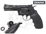 Револьвер пневматический Diana Raptor - Револьвер пневматический DIANA Raptor - от компании Diana представляют собой сочетание традиционного немецкого качества и современных технологий. Магазин на 8 камор пуль Diabolo. Револьвер выпускается со стволами длиной в 4 и 6 дюймов (10,2 и 15,2 см)