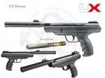 Пистолет UX Trevox Gas piston - Пистолет UX Trevox - Новинка, одно из последних дополнений ассортимента Umarex. Trevox это пистолет с переломом ствола, имеет новейшие технологии: Gas piston (газовую пружину) и Silence Air - трехкамерный глушитель, уменьшающий шум. Начальная скорость пул