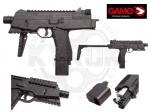 Пневматический пистолет Gamo MP-9 - Gamo MP-9 – это пневматическая копия знаменитого пистолет-пулемета MP-9,полуавтоматический газобаллонный пневматический пистолет предназначенный для стрельбы пулями и шариками типа BB. Корпус пистолета изготовлен из высококачественного ударопрочного плас