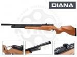 Винтовка РСР Diana Outlaw - Винтовка Diana Outlaw PCP - обладает достаточно высокой мощностью, оснащена редуктором, Интегрированный саундмодератор значительно снижает звук выстрела. Эргономичная ложа выполнена из дерева а затыльник изготовлен из прочной резины.