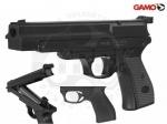 Пистолет пневматический Gamo PR-45 - Пистолет Gamo PR-45 - однозарядный пневматика компрессионного типа. Взведение производится поворотом ствола вверх на 120°. Стрельба ведется пулями типа Диабло 4,5 мм или свинцовыми шариками. Начальная скорость 120 м/с.