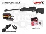 Комплект GAMO Adult к винтовке Gamo Shadow DX - Комплект GAMO Adult - винтовка пневматическая Gamo Shadow DX с набором. В набор входит: винтовка, прицел Gamo 3-9x40WR1PM с креплением, пули Gamo Rocket 0.62гр. и комплект мишеней Gamo.