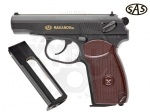 Пистолет SAS Makarov SE - Пистолет SAS Makarov SE - очередная копия всем известного пистолета Макарова, выполнена из ударопрочного пластика, но имеет полноразмерную обойму. За счет использования пластика удалось снизить вес до 395 гр. Начальная скорость, м/с: 130.