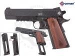 Пистолет Crosman 1911 Pellet - Пистолет Crosman 1911 Pellet - Является копией легендарного Colt Government Model 1911A1. Отличие от других моделей Colt, данная модель стреляет не шариками ВВ, а пулями Диабло имеет роторный магазин с двумя барабанами емкостью 6 пуль.