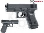 Пистолет Umarex Glock 19 - Пистолет Umarex Glock 19 - является  копией боевого Глок 19. Корпус данного пистолет выполнен из пластика, затворная рама металлическая. 16-ти зарядный магазин. Начальная скорость полета пули 128 м/с.