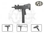 Пистолет-пулемет SAS Mac 11 - Пистолет-пулемет SAS Mac 11 - новый пневмат является копией боевого оружия. Источником энергии выстрела служит баллончик СО2. Баллон размещается в магазине пистолета. Начальная скорость полета шарика ВВ 120 м/с.