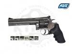 Револьвер ASG Dan Wesson 715 Pellet 6 - Револьвер ASG Dan Wesson 715 Pellet 6 - копия легендарного револьвера конструкции Смита и Вессона производства компании Dan Wesson Firearms.  Из металла изготовлен не только корпус, но и полностью функциональный откидной барабан. Скорость пули 130 м/с