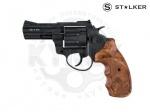 Револьвер флобера STALKER S 3 syntetic wood - Револьвер под патрон Флобера Stalker S 3 с пластиковой рукояткой под дерево,«S» означает что барабан выполнен из легкосплавного металла (силумин). Короткий (7,6 см) ствол. Начальная скорость вылета пули м/с: 160