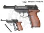 Пистолет Borner C41 - Пистолет Borner C41 - газобаллонная  копия Walther P38 — культового пистолета немецкой армии времен Великой Отечественной Войны. Начальная скорость 120 м/с