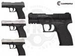 Стартовый пистолет Carrera Arms «Leo» GT70 - Пистолет Carrera Arms «Leo» GT70 - похож на известный бразильский полуавтоматический пистолет Taurus PT 24/7. Текстурированная анатомическая рукоять, и ручной предохранитель флажкового типа. Пистолет предназначен для стрельбы холостыми 9мм.