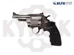 Alfa 431 никель. пластик револьвер под патрон Флобера