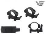 Быстросъёмные стальные кольца Vector Optics Steel QR на 30 мм
